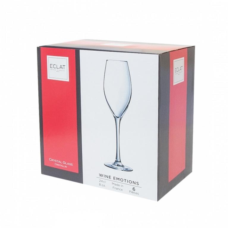 Набор фужеров (бокалов) для шампанского ВАЙН ЭМОУШЕНС 240мл 6шт