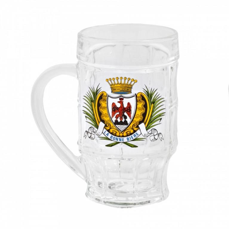 Кружка для пива МЮНХЕН декорированная 500мл
