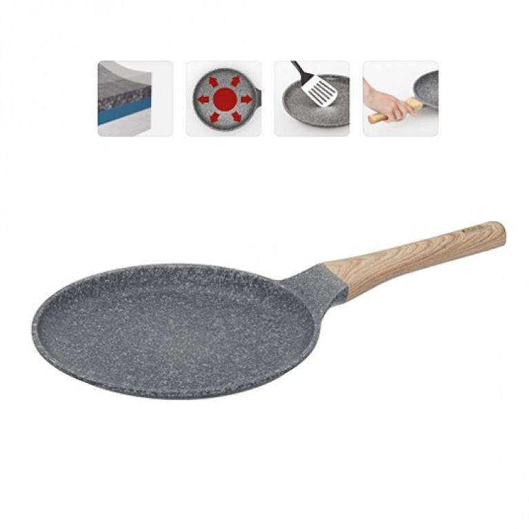 Сковорода блинная с антипригарным покрытием 24см NADOBA серия MINERALICA