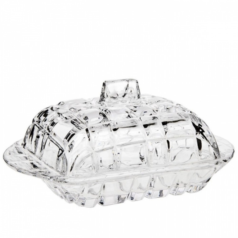 Масленка Кристалл 17x11x8см (стекло) (коричневая упаковка)