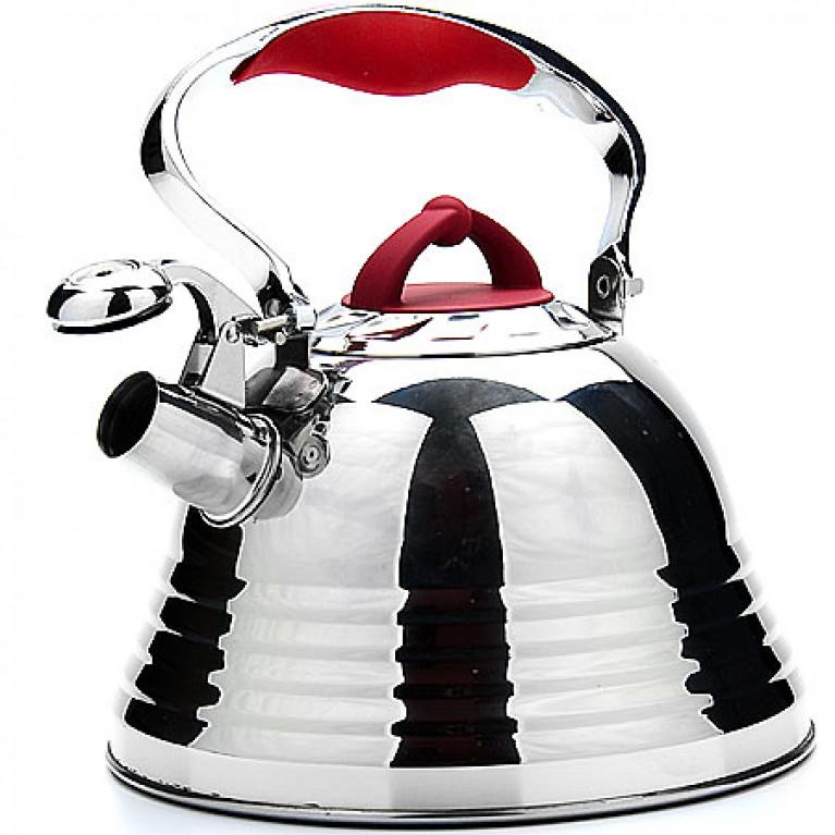 Чайник металлический 3 л ручка красная MAYER&BOCH