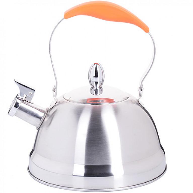 Чайник металлический 2,3 л руч/мет/силик оранж MB