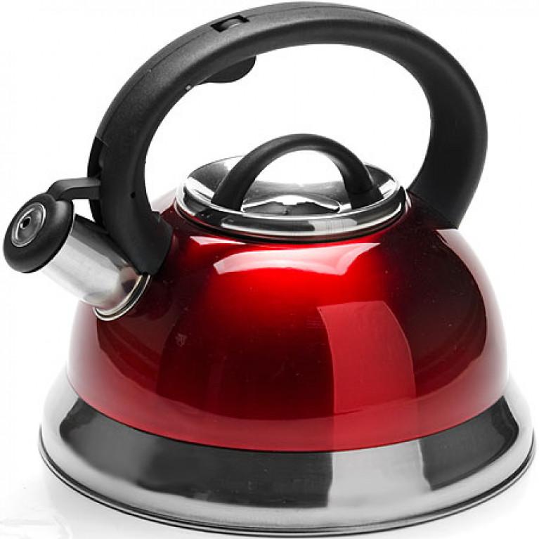 Чайник металлический 3 л со свистком КРАСНЫЙ