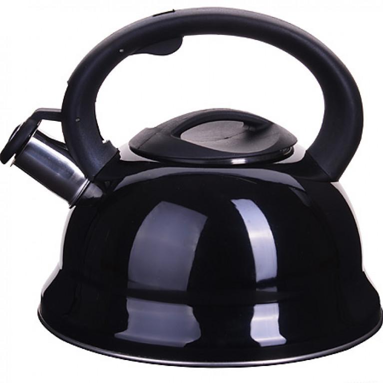Чайник металлический ЧЕРНЫЙ 3 л со свистком