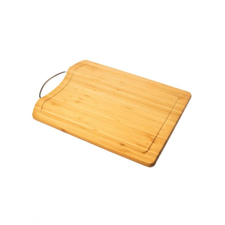 Доска разделочная прямоугольная с металлической ручкой 30,5 х 20,5 х 1.6 см
