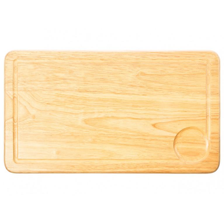 Доска разделочная прямоугольная с желобком 23х40х1,5 см