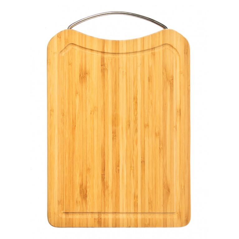 Доска разделочная прямоугольная с металлической ручкой 40 х 28 х 1,6 см