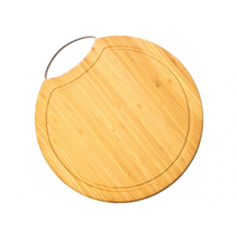 Доска разделочная круглая с металлической ручкой 30,5 х 1,6 см