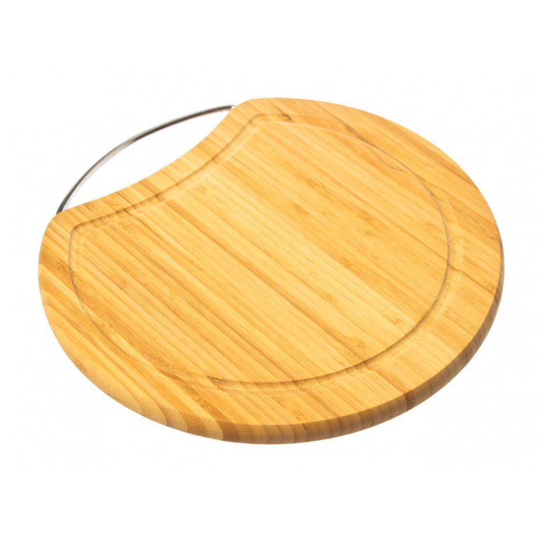 Доска разделочная круглая с металлической ручкой D25,5 х 1,6 см