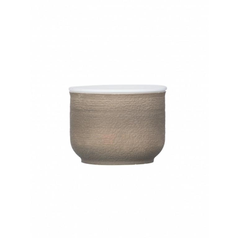 Керамический контейнер для ванной  Nebo коричневая